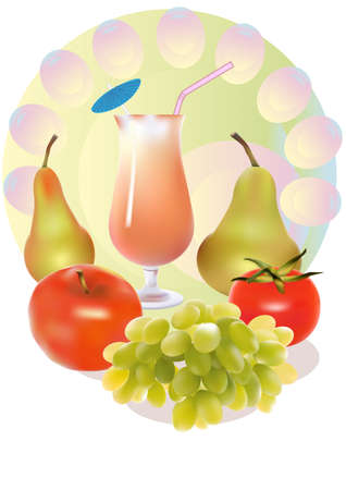 drink ,fruit   Stock Vector - 14234487