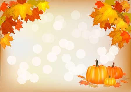 autumn leaf frame: Oto�o, postal Vectores