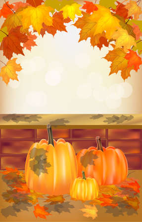 Autumn , postcard   Vector