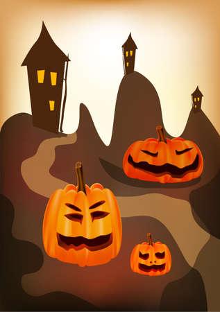 Halloween , postcard Stock Vector - 15581335