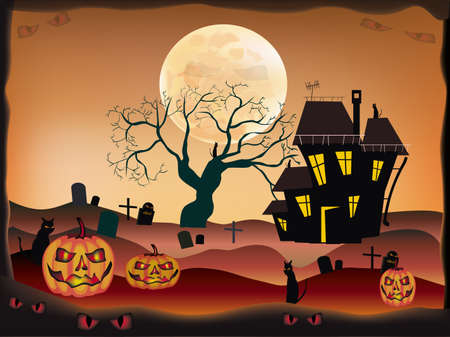 Halloween , postcard   Stock Vector - 15581336