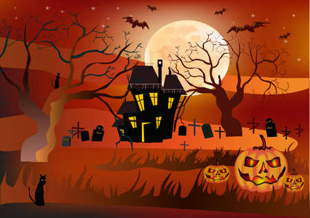 Halloween , postcard Stock Vector - 15581334
