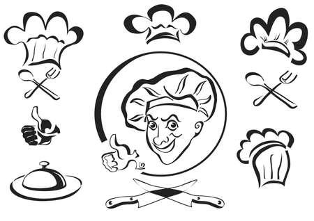 chef , cook , logotype Stock Vector - 15697655