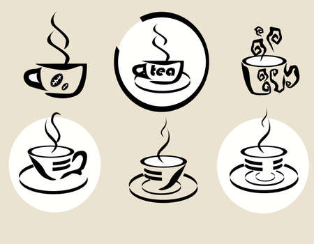 coffe tea Vector