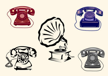 Gramophone, phone Stock Vector - 15697653