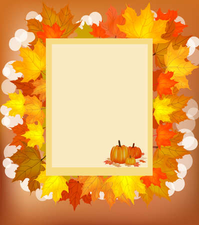 Autumn , postcard . Stock Vector - 16100174