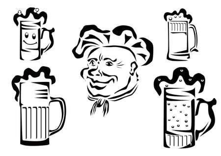 beer , logotype , label    Stock Vector - 16239920