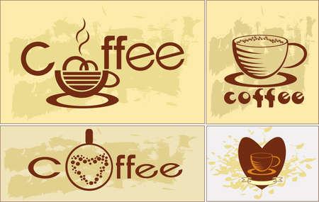 Coffee , logotype , menu Stock Vector - 16657161