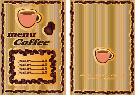 Coffee , tee, menu   Vector