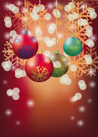 New year, christmas , postcard  Stock Vector - 16933539