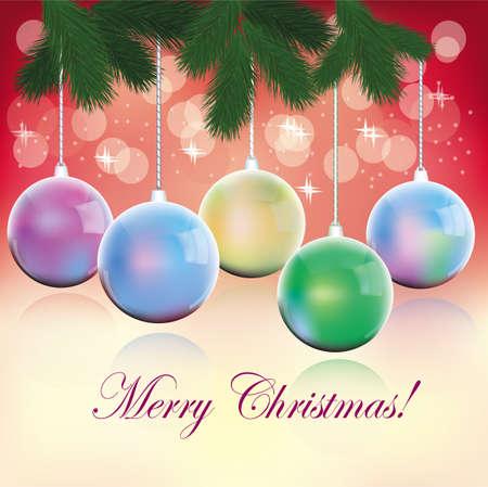 New year, christmas , postcard Stock Vector - 16933538