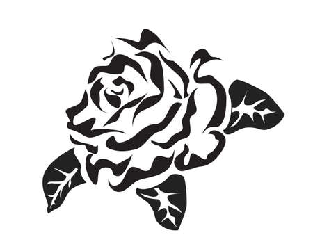 Rose   icons  tattoo Stock Vector - 17581244