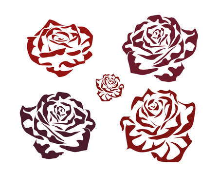 Rose   icons  tattoo Stock Vector - 17720593