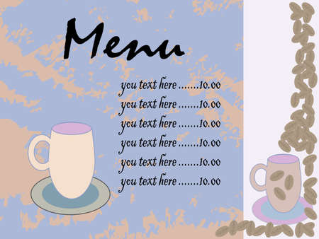 menu coffee card  Illustration