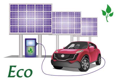 Ecology car , solar panels