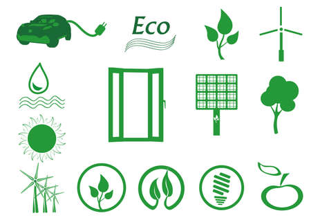 Ecology icon set  Eco-icons   Illustration