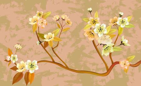 sakura , spring , postcard    Stock Vector - 18812300