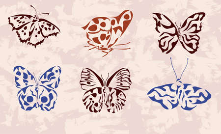 butterfly   icons   tattoo   Vector