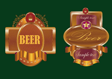 banners on topic with beer Illustration