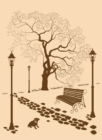 bench alone: Loneliness, a dog without a master