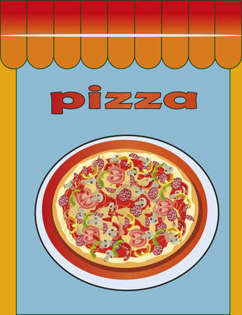 Pizza, illustration