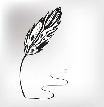 Feather calligraphic pen  background Stock Vector - 20753215