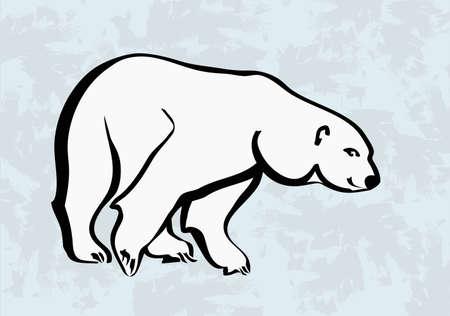 bear silhouette: polar bear icone tatuaggio