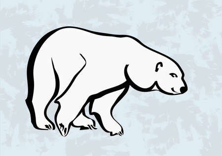 polar bear on the ice:  polar bear  icons tattoo  Illustration