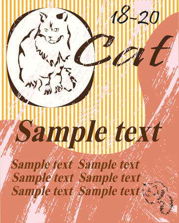 catt design ,Vector abstract cat   Illustration