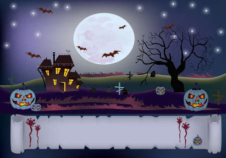 Halloween , postcard    Vector