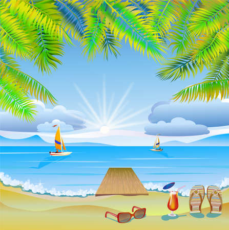 furlough: Travel   The sea, yachts, palm trees Furlough