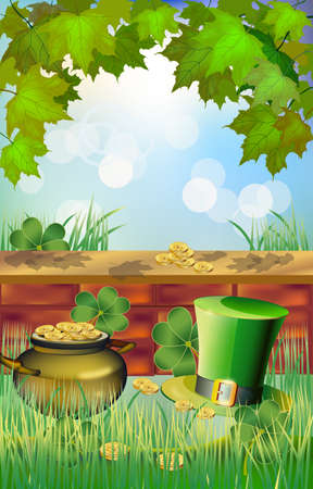 st  patrick's day: St  Patrick s Day - vector greeting card  Illustration