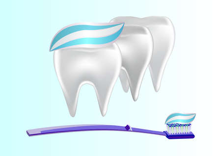 carious: banner toothpaste teeth  vector