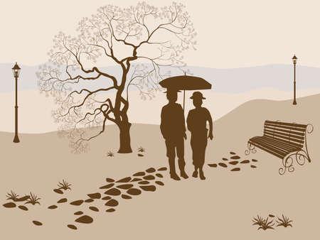 Banner vector ,loneliness, elderly family