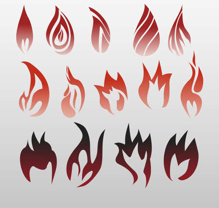 flames of fire: Icons of flames, fire