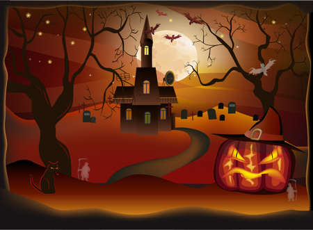 Halloween-holiday that everyone is waiting for and fear  Vector