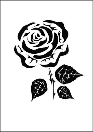 Rose  icons .tattoo . Vector