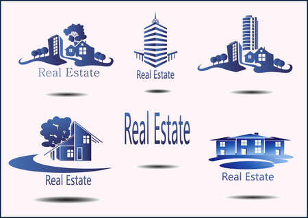 manor house: set of Real Estate icons Illustration