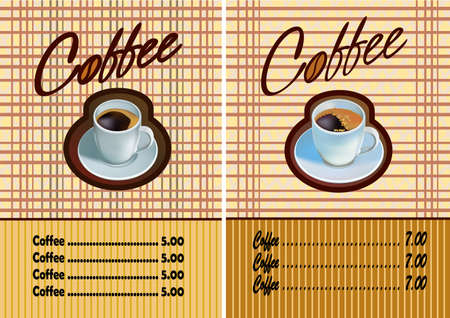 Banner for restaurant and cafe . Coffee . Vector