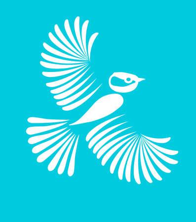 little bird: El peque�o p�jaro, vector