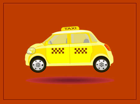vector icons taxi card advertising
