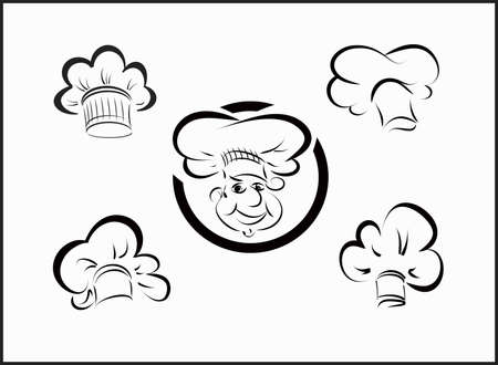 hubcaps: vector icons chefs and hubcaps