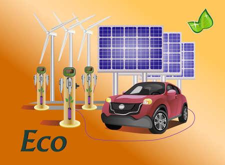 nonpolluting: Vector set eco