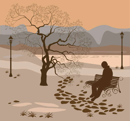 soledad: La soledad, un paseo por el parque hombre