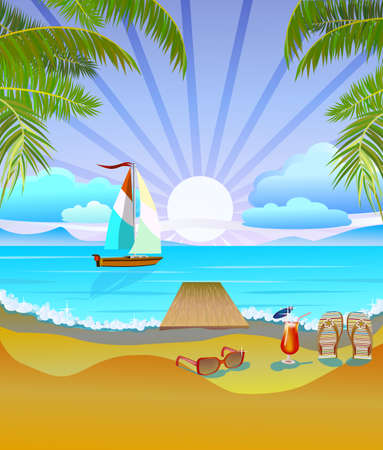 Summer vacation and travel design Vector