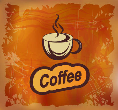 Banner with coffee Illustration