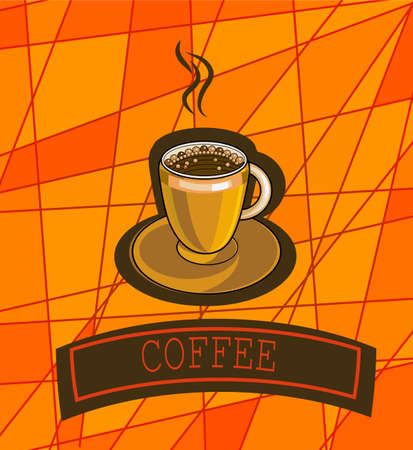 forties: Vector banner with coffee