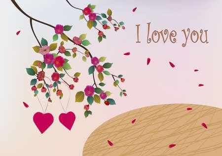 beck: Sakura, spring, Valentines Day. Illustration