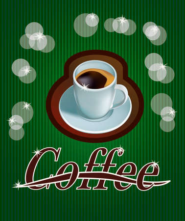 forties: banner with coffee Illustration
