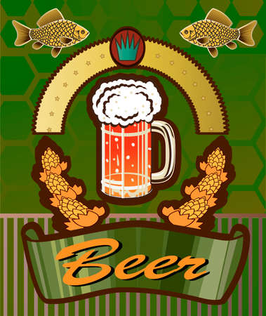 topic: topic with beer Illustration